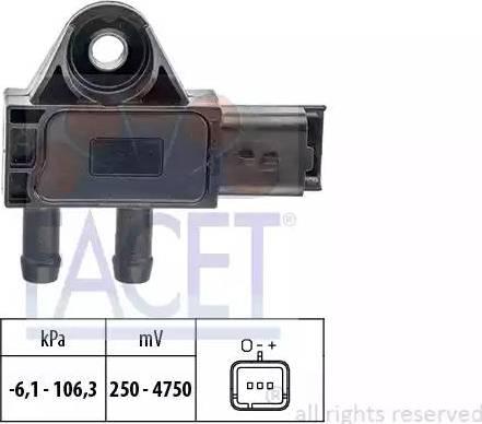 FACET 10.3271 - Датчик, давление выхлопных газов mavto.com.ua