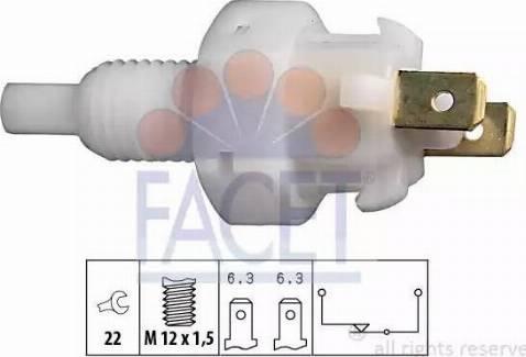 FACET 7.1004 - Выключатель фонаря сигнала торможения mavto.com.ua