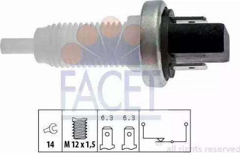 FACET 7.1001 - Выключатель фонаря сигнала торможения mavto.com.ua