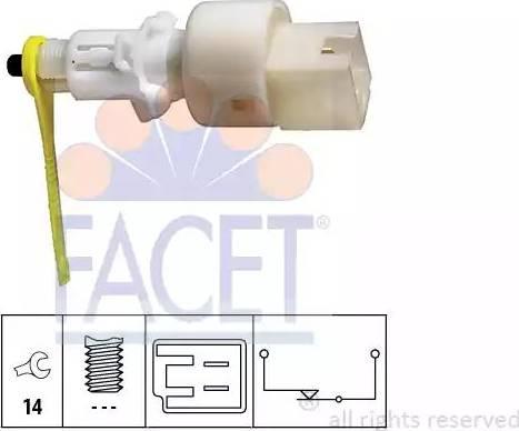 FACET 7.1153 - Выключатель, привод сцепления (Tempomat) mavto.com.ua