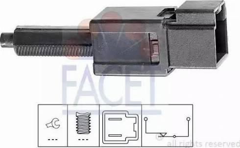 FACET 7.1165 - Выключатель, привод сцепления (Tempomat) mavto.com.ua