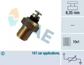 FAE 32110 - Датчик, температура охлаждающей жидкости mavto.com.ua