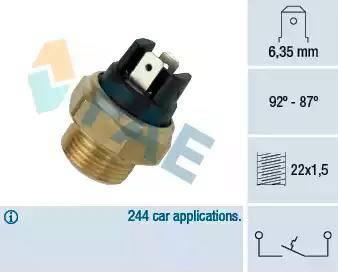 FAE 37310 - Термовыключатель, вентилятор радиатора / кондиционера mavto.com.ua