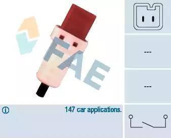 FAE 24896 - Выключатель, привод сцепления (Tempomat) mavto.com.ua