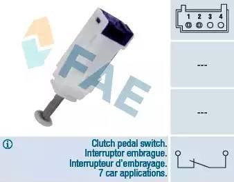 FAE 24792 - Выключатель, привод сцепления (Tempomat) mavto.com.ua