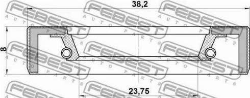Febest 95FBY-26380808X - Уплотнительное кольцо вала, приводной вал mavto.com.ua