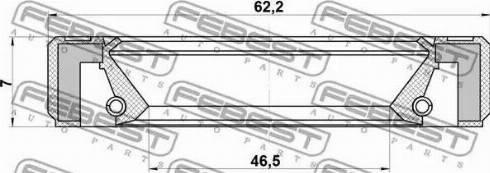 Febest 95GBY-48620707R - Уплотняющее кольцо, дифференциал mavto.com.ua