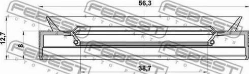 Febest 95PES-40560813C - Уплотняющее кольцо вала, автоматическая коробка передач mavto.com.ua