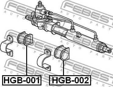 Febest HGB-001 - Подвеска, рулевое управление mavto.com.ua