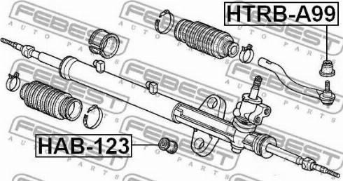 Febest HTRB-A99 - Ремкомплект, наконечник поперечной рулевой тяги mavto.com.ua