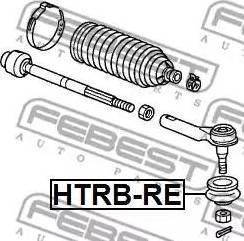 Febest HTRB-RE - Ремкомплект, наконечник поперечной рулевой тяги mavto.com.ua