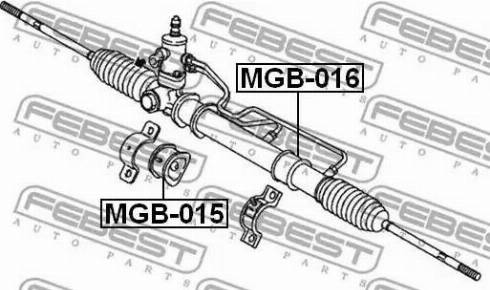 Febest MGB-016 - Подвеска, рулевое управление mavto.com.ua