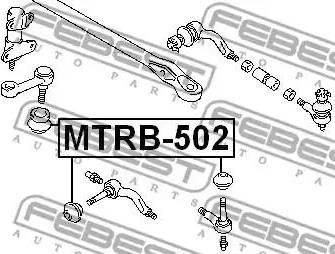 Febest MTRB-502 - Ремкомплект, наконечник поперечной рулевой тяги mavto.com.ua