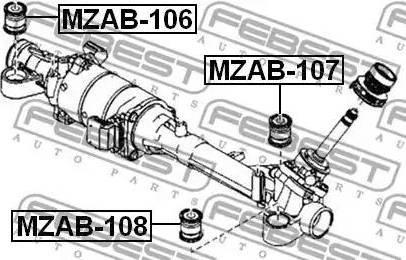 Febest MZAB-108 - Подвеска, рулевое управление mavto.com.ua