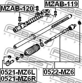 Febest MZAB-120 - Подвеска, рулевое управление mavto.com.ua