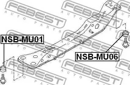 Febest NSB-MU06 - Втулка, балка моста mavto.com.ua