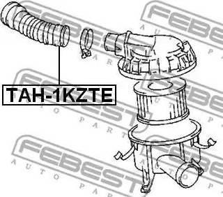 Febest TAH-1KZTE - Трубопровод mavto.com.ua