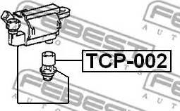 Febest TCP-002 - Вилка, катушка зажигания mavto.com.ua