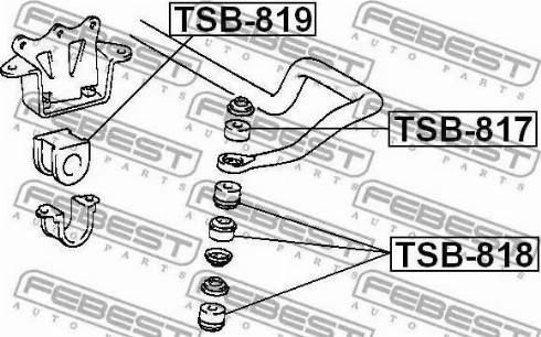 Febest TSB-817 - Подвеска, стойка вала mavto.com.ua
