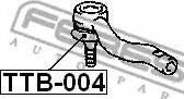 Febest TTB-004 - Ремкомплект, наконечник поперечной рулевой тяги mavto.com.ua