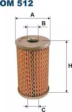 Filtron OM512 - Фильтр, Гидравлическая система привода рабочего оборудования mavto.com.ua