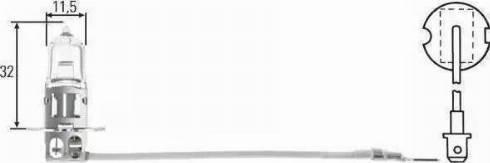HELLA 8GH 002 090-131 - Лампа накаливания, фара с автоматической системой стабилизации mavto.com.ua