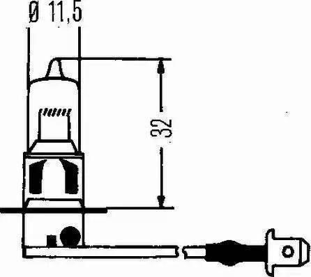 HELLA 8GH 002 090-271 - Лампа накаливания, противотуманная фара mavto.com.ua