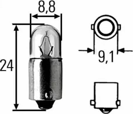 HELLA 8GP 002 068-241 - Лампа накаливания, стояночные огни / габаритные фонари mavto.com.ua