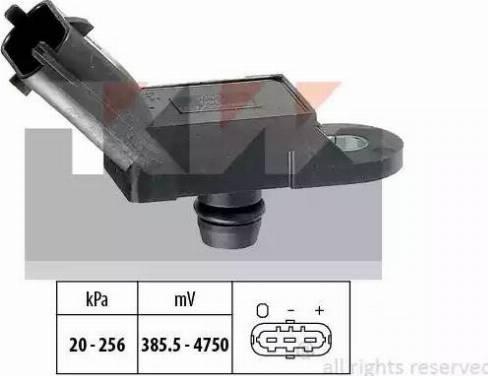 KW 493 055 - Датчик, давление выхлопных газов mavto.com.ua