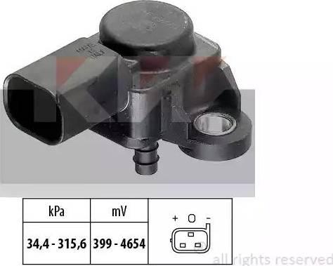 KW 493 165 - Датчик, давление выхлопных газов mavto.com.ua