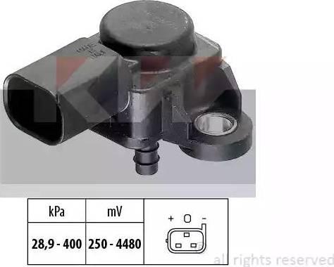 KW 493 175 - Датчик, давление выхлопных газов mavto.com.ua