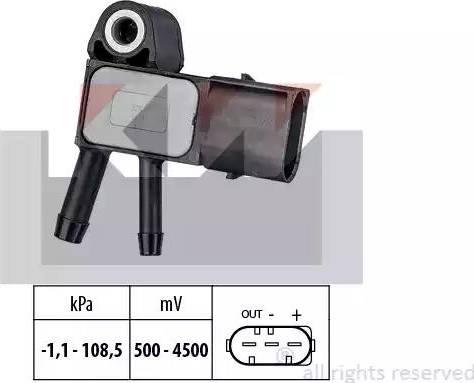 KW 493 269 - Датчик, давление выхлопных газов mavto.com.ua