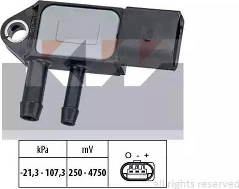 KW 493 265 - Датчик, давление выхлопных газов mavto.com.ua