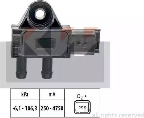 KW 493 271 - Датчик, давление выхлопных газов mavto.com.ua