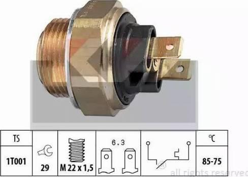 KW 550 008 - Термовыключатель, вентилятор радиатора / кондиционера mavto.com.ua