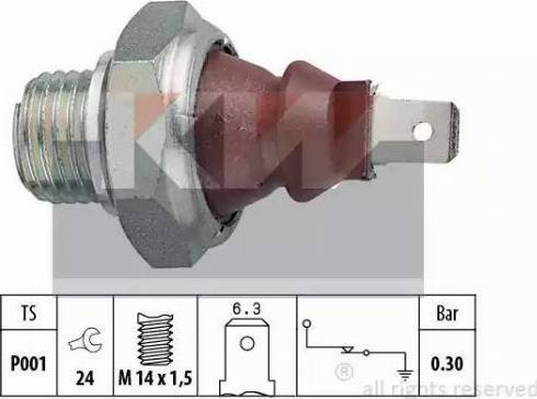 KW 500 023 - Датчик давления масла mavto.com.ua