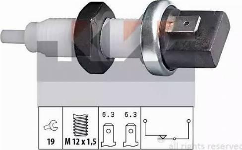 KW 510 000 - Выключатель фонаря сигнала торможения mavto.com.ua