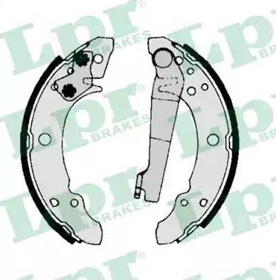 LPR 00140 - Комплект тормозных башмаков, барабанные mavto.com.ua