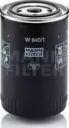 Mann-Filter W 940/1 - Фильтр, Гидравлическая система привода рабочего оборудования mavto.com.ua