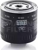 Mann-Filter W920 - Фильтр, Гидравлическая система привода рабочего оборудования mavto.com.ua