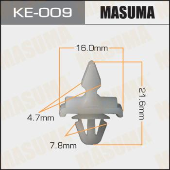 MASUMA KE009 - Зажим, молдинг / защитная накладка mavto.com.ua