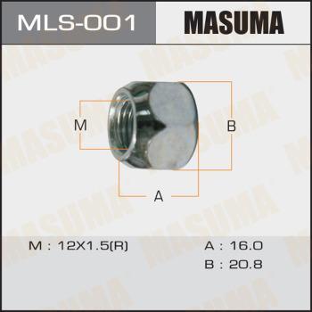 MASUMA MLS-001 - Гайка крепления колеса mavto.com.ua