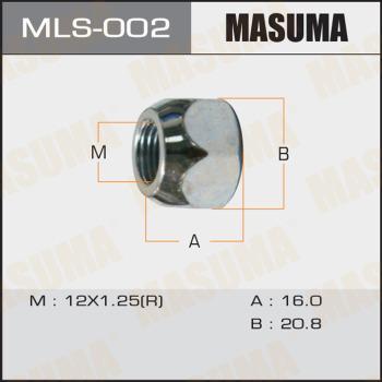 MASUMA MLS002 - Гайка крепления колеса mavto.com.ua