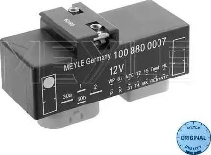 Meyle 100 880 0007 - Блок управления, эл. вентилятор (охлаждение двигателя) mavto.com.ua