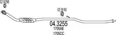 MTS 04.3255 - Катализатор mavto.com.ua