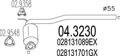 MTS 04.3230 - Катализатор mavto.com.ua