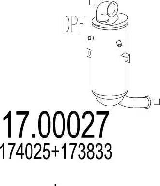 MTS 17.00027 - Сажевый / частичный фильтр, система выхлопа ОГ mavto.com.ua