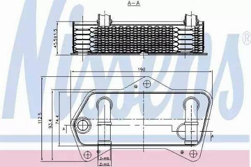 Nissens 90653 - Масляный радиатор, автоматическая коробка передач mavto.com.ua
