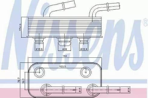 Nissens 90657 - Масляный радиатор, автоматическая коробка передач mavto.com.ua