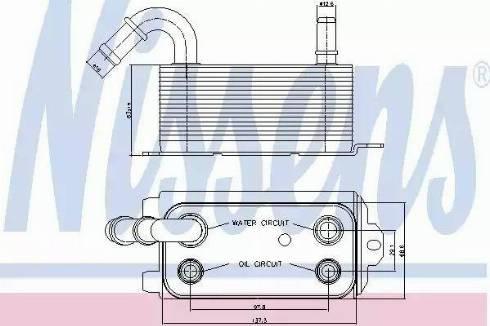 Nissens 90661 - Масляный радиатор, автоматическая коробка передач mavto.com.ua